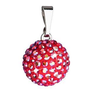 Stříbrný přívěšek s kulička Crystals from Swarovski® Siam AB