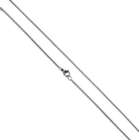 Oceľová retiazka štvorcová, hr. 1,0 mm