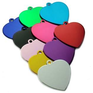 Hliníková psí známka srdce  89653ff2fbe