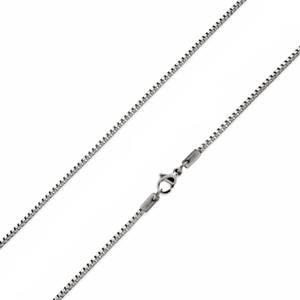 Ocelový řetízek čtvercový, tl. 1,2 mm