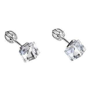 Stříbrné náušnice kostky Crystals from Swarovski® crystal