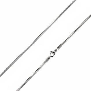 Ocelový řetízek čtvercový, tl. 1 mm