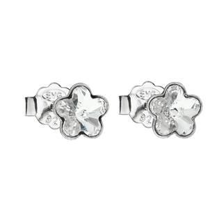 Stříbrné náušnice kytičky Crystals from Swarovski® Crystal