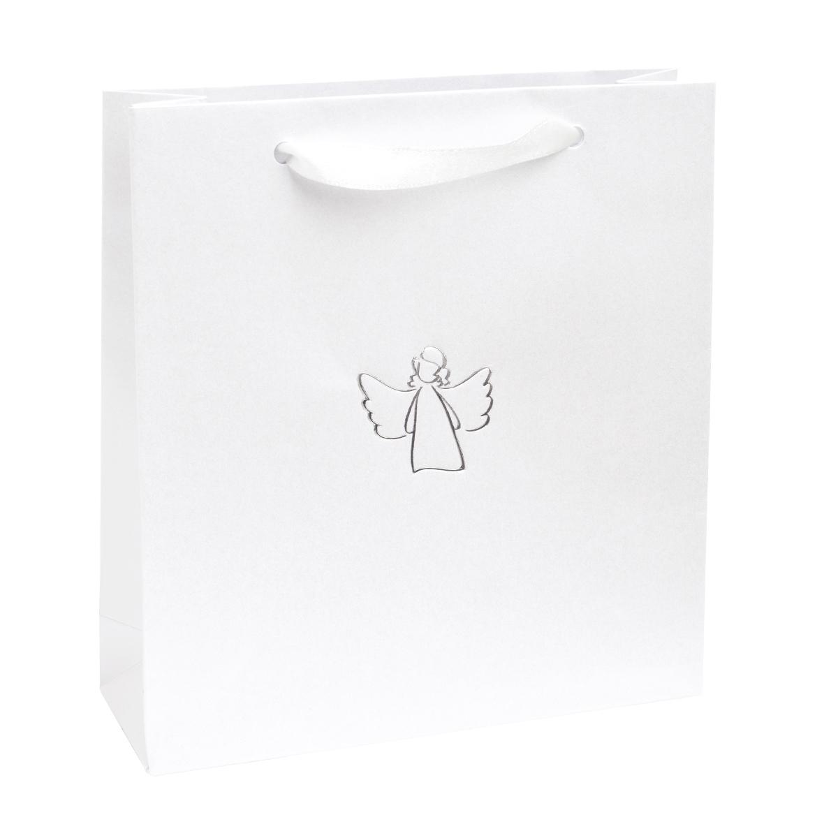 Dárková taška se stříbrným andělem