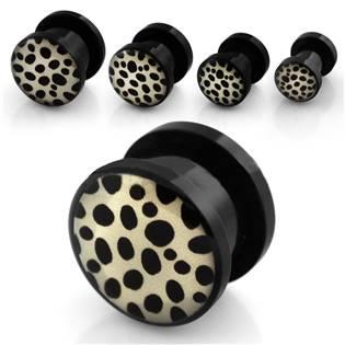 Šroubovací plug do ucha - vzor leopard