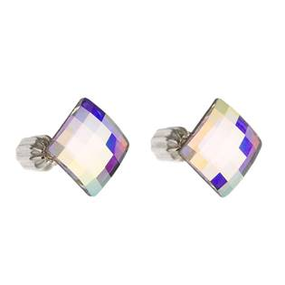 Stříbrné náušnice s krystaly Crystals from Swarovski®, Chessboard AB
