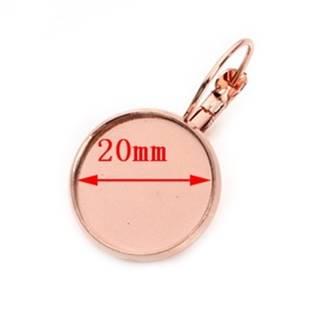Zlacené náušnicové zapínání - dámský patent, lůžko 20 mm - 1 kus