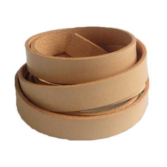 Kožená šnúrka plochá béžová, šírka 13 mm
