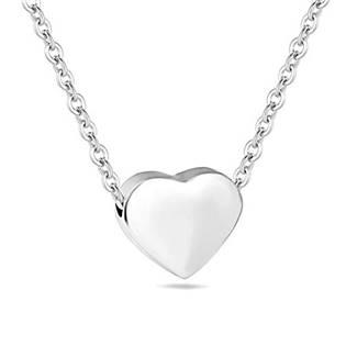 Šperky4U Ocelový řetízek s navlečeným srdíčkem - OPD0138-ST