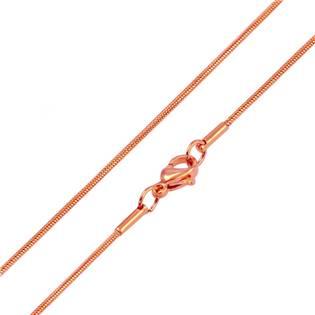 Zlacený ocelový řetízek hádě, tl. 1,2 mm