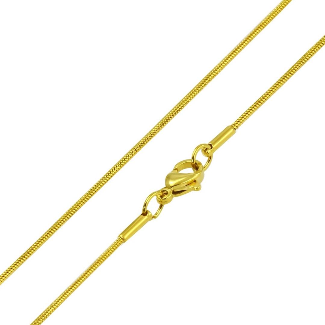 Pozlátený oceľová retiazka hadom, hr. 1,2 mm