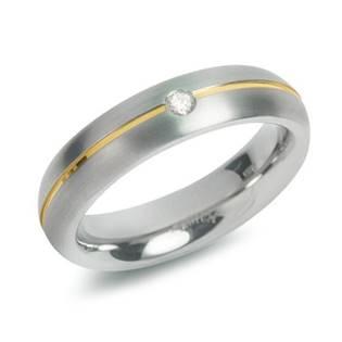 Dámský titanový snubní prsten BOCCIA® s diamantem 0130-06