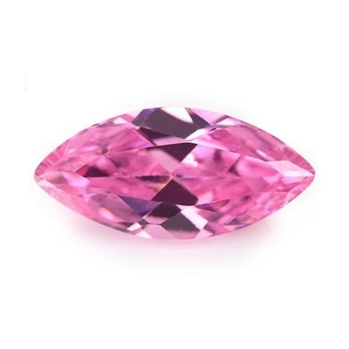 CZ Kubický zirkon - Pink, 2,5 x 5 mm