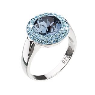 Stříbrný prsten Crystals from Swarovski®, Blue