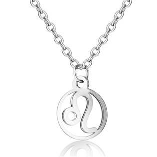 Šperky4U Ocelový řetízek s přívěškem znamení lev - OPD0140-05