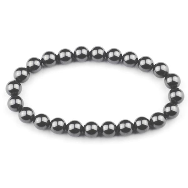 Perlový náramek, 8 mm šedé perly Crystals from Swarovski®