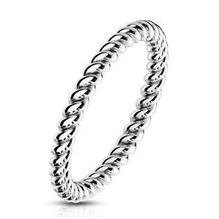 Ocelový prsten kroucený OPR1757