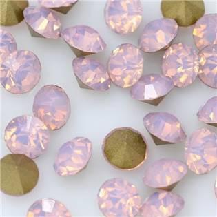 Skleněný šaton SS16 - 4 mm, 10ks/bal., Pink Opal