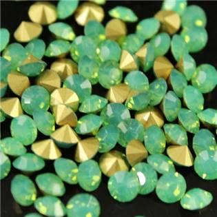 Skleněný šaton SS16 - 4 mm, 10ks/bal., Green Opal