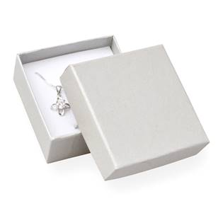Dárková krabička na soupravu šperků - perleťově bílá