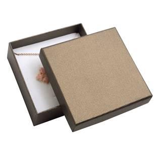 Dárková krabička na soupravu šperků - hnědá