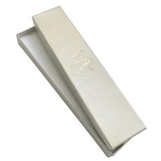 Krémová dárková krabička na náramek, zlatý anděl