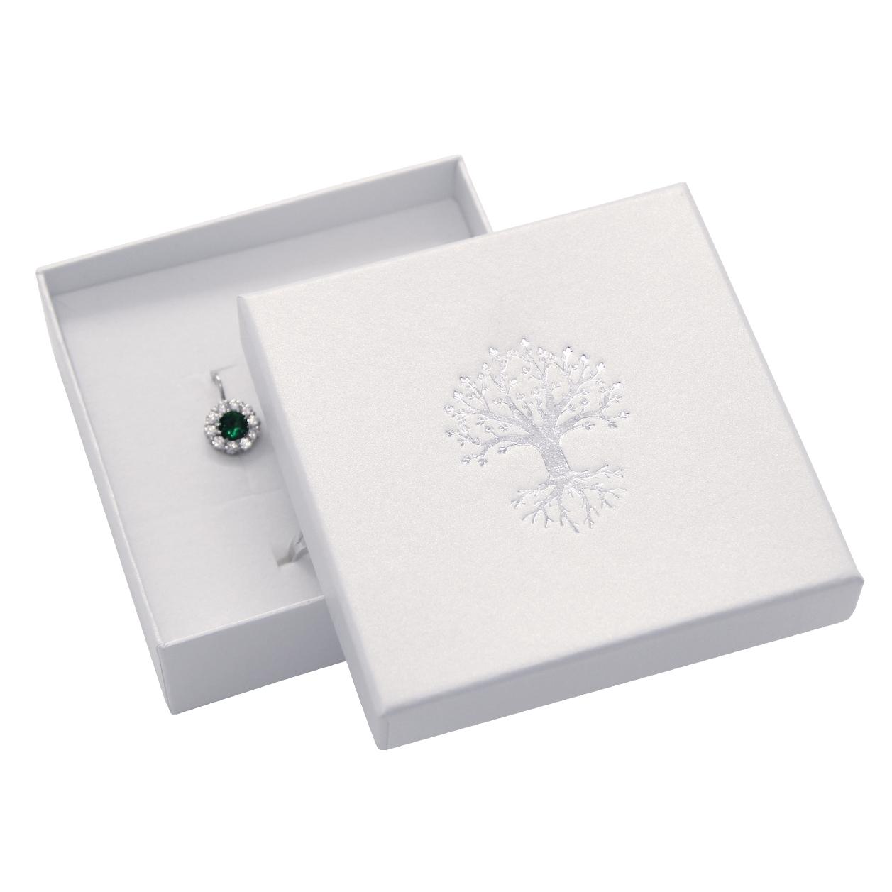 Darčeková krabička na súpravu, strieborný strom života