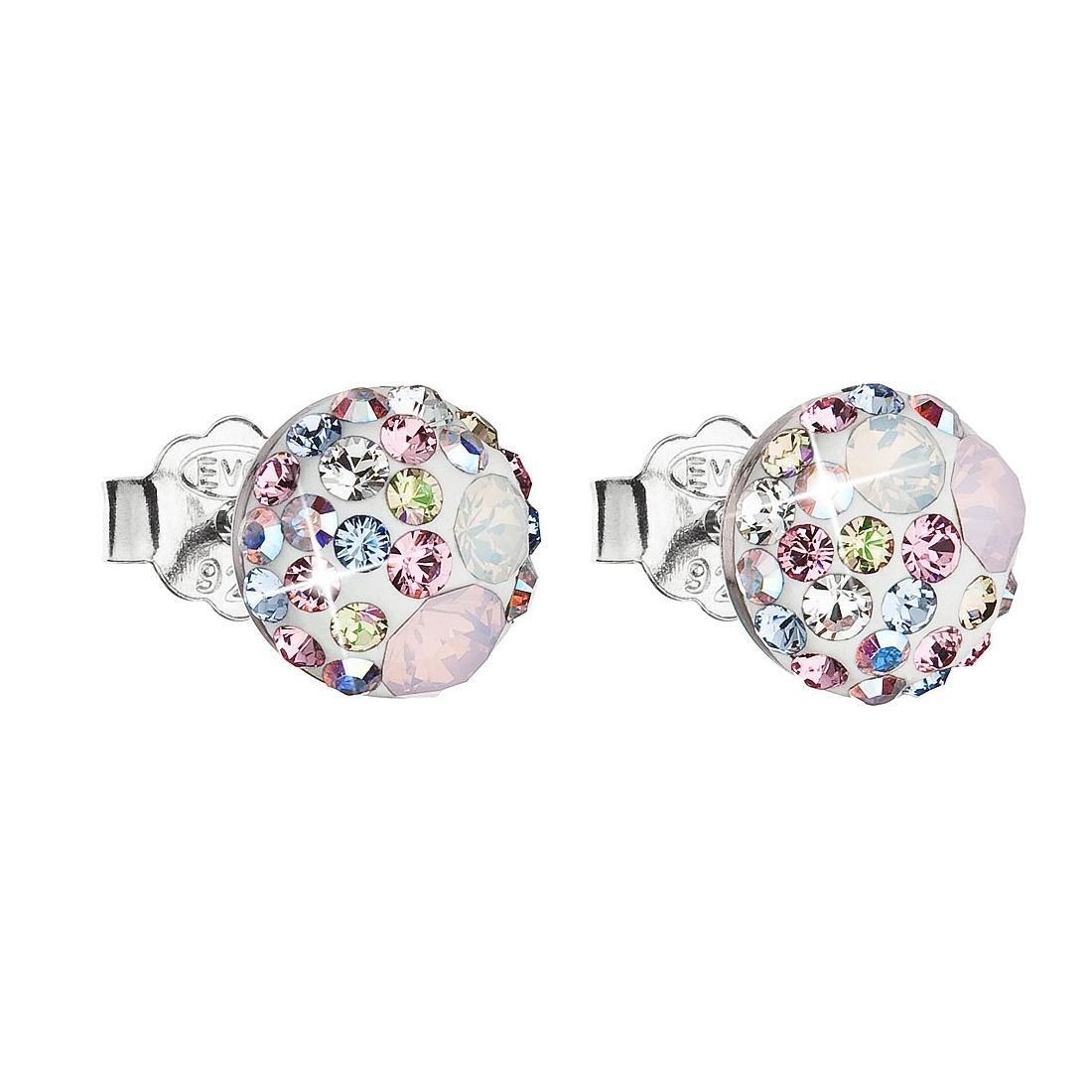 Stříbrné náušnice s krystaly Crystals from Swarovski®, Magic Rose EG2008-MR