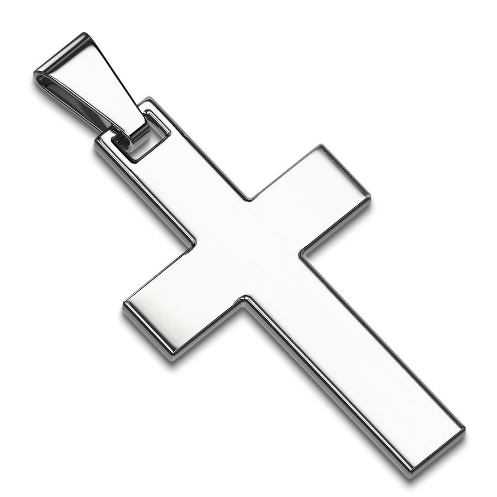 Hádka oceľový prívesok - kríž