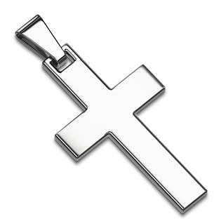 Hadký ocelový přívěšek - kříž
