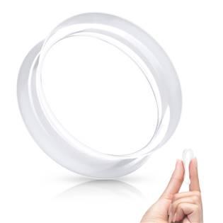 Silikonový tunel do ucha tenkostěnný - čirý