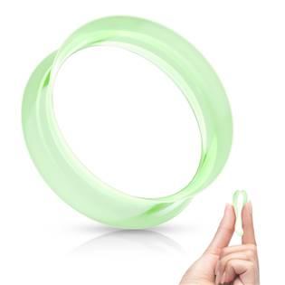 Silikonový tunel do ucha tenkostěnný - zelený