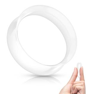 Silikonový tunel do ucha tenkostěnný - bílý