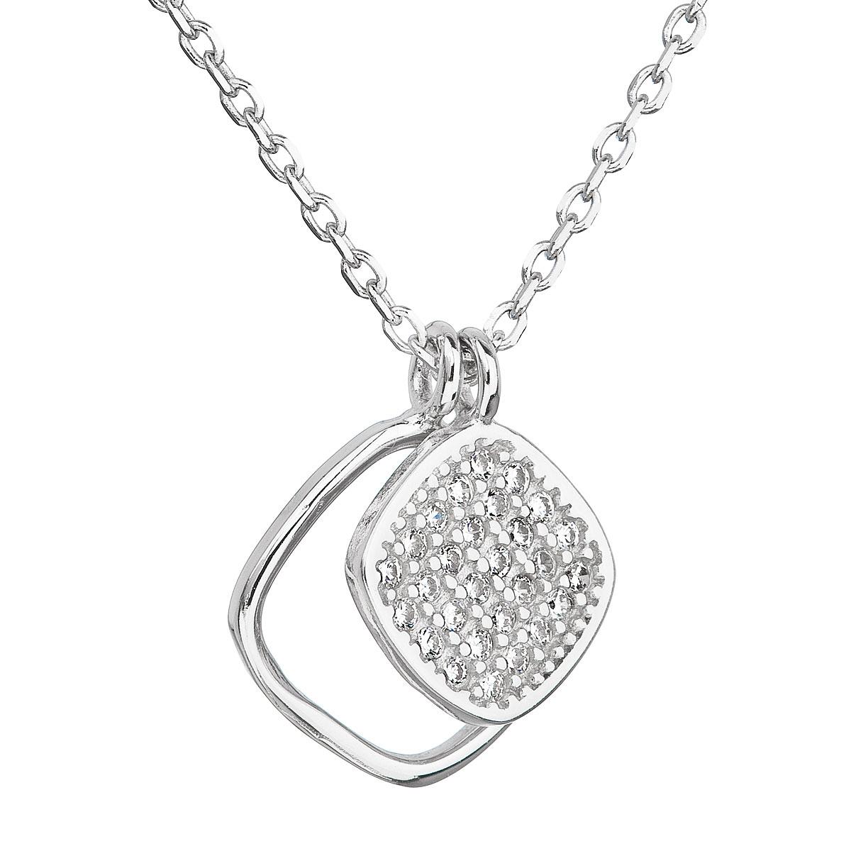 Stříbrný náhrdelník s přívěsky EG4072