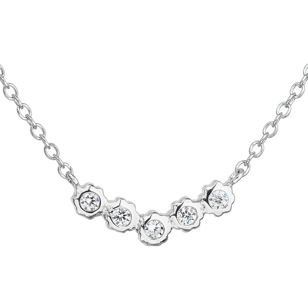 Stříbrný náhrdelník se zirkony EG4073