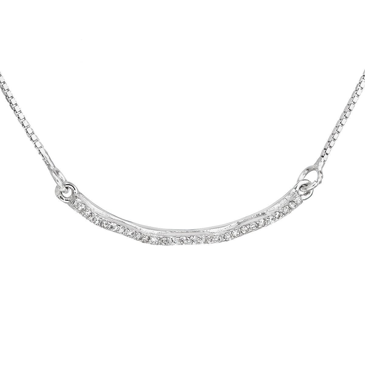 Stříbrný náhrdelník se zirkony EG4075