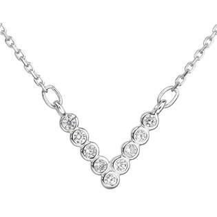 Stříbrný náhrdelník s čirými zirkony