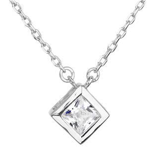 Stříbrný náhrdelník se čtvercovým zirkonem