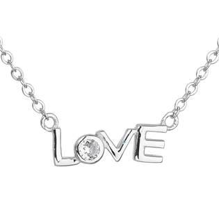 Stříbrný náhrdelník se zirkonem v bílé barvě