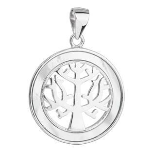 Stříbrný přívěsek strom života s perletí