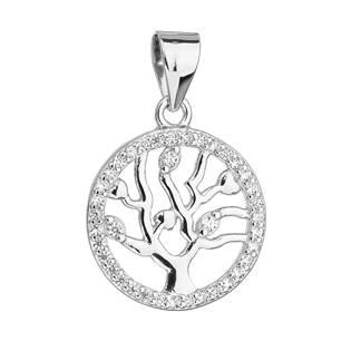 Stříbrný přívěsek se zirkony - strom života