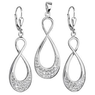 Sada šperků nekonečno Crystals from Swarovski® Crystal