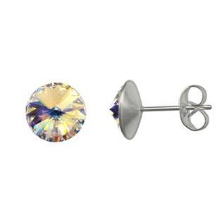 Ocelové náušnice Crystals from Swarovski® 6mm, AB