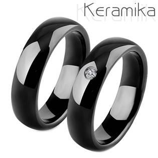 Keramický snubní prsten černý KM1000