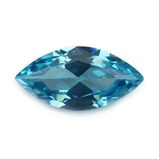 Šperky4U CZ Kubický zirkon - Aqua, 3 x 6 mm - CZM600-030