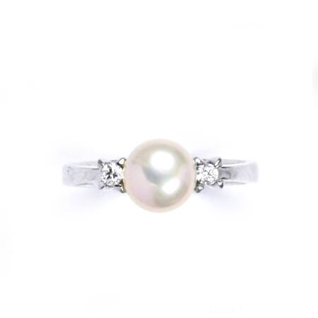Strieborný prsteň s ružovou perlou 7,5 mm