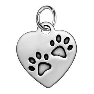 Malý ocelový přívěšek s kroužkem - srdce