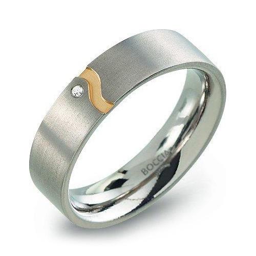 Dámsky titánový snubný prsteň Boccia 0147-04