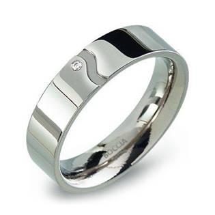 Dámský titanový prsten s diamantem 0147-02