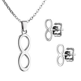 SET0071-ST Set šperků z chirurgické oceli, nekonečno